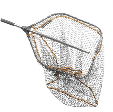 SG Pro Tele Folding Rubber Large Mesh Landing Net XL (70x85c