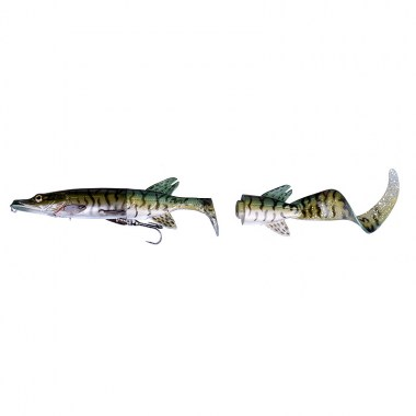 SG 3D Hybrid Pike 17cm 45g SS 07-Green Silver Pike